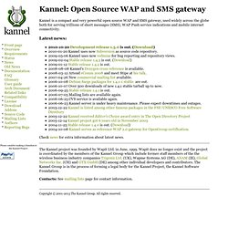 Kannel: Open Source WAP and SMS Gateway