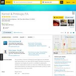 Kanner & Pintaluga, P.A. Boca Raton, FL 33432 - YP.com