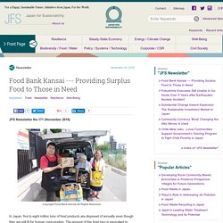 Providing Surplus Food to Those in Need
