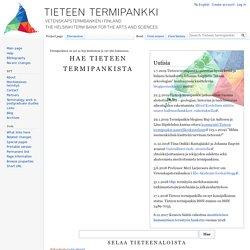 Tieteen kansallinen termipankki - Tieteen termipankki