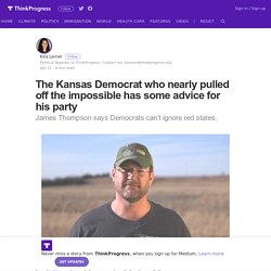 The Kansas Democrat who nearly pulled off the impossible has some advice for his party