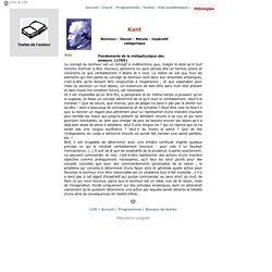 Kant. Impératif catégorique