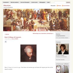 » Kant: L'éthique de la pensée