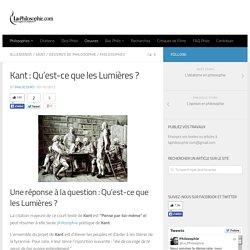 Kant : Qu'est-ce que les Lumières ?