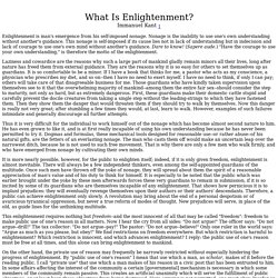 Kant. What is Enlightenment