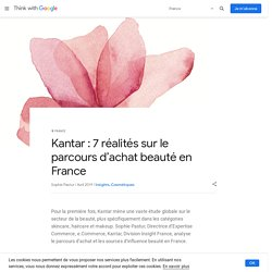 Kantar : 7 réalités sur le parcours d'achat beauté en France