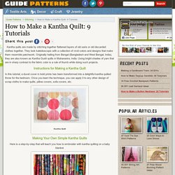How to Make a Kantha Quilt: 9 Tutorials