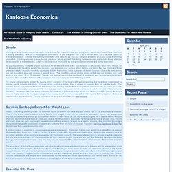 Kantoos Economics