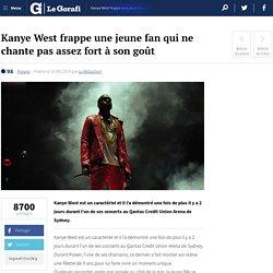 Kanye West frappe une jeune fan qui ne chante pas assez fort à son goût