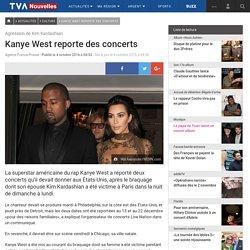 Kanye West reporte des concerts