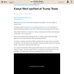 Kanye West spotted at Trump Tower