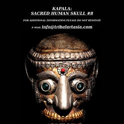 KAPALA REAL AUTHENTIC HUMAN SKULL AND SKULL CAP DAVID HOWARD TRIBAL ART KAPALA REAL AUTHENTIC HUMAN SKULL AND SKULL CAP
