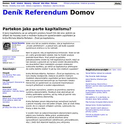 Marek Řezanka: Partekon jako parte kapitalismu?