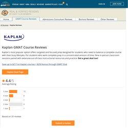 Kaplan GMAT Course Reviews
