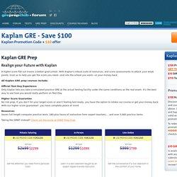 Kaplan GRE Discount
