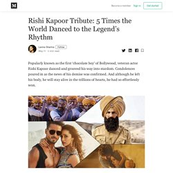 Rishi Kapoor Tribute: 5 Times the World Danced to the Legend's Rhythm