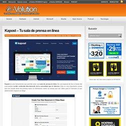 Kapost – Tu sala de prensa en línea