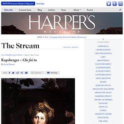 Kapsberger— Che fai tu