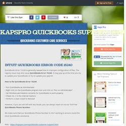How to fix Quickbooks Error 15240