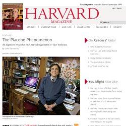 Ted Kaptchuk of Harvard Medical School studies placebos