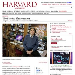 The Placebo Phenomenon — harvardmagazine