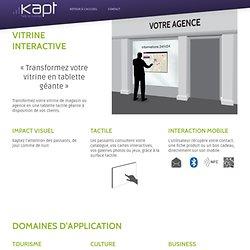 Kapt : Vitrine Interactive
