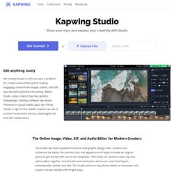 Kapwing Studio - Online editor for images, GIFs, and videos