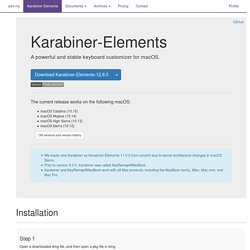 Karabiner - Software for OS X