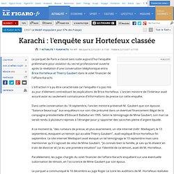 Karachi : l'enquête sur Hortefeux classée