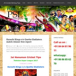 Free Cricket Tips