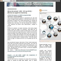 [Revue de presse] - [49] - [12 mai 2010] - [Remise du rapport et