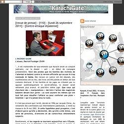[revue de presse] - [110] - [lundi 26 septembre 2011] - [Contre-attaque élyséenne]