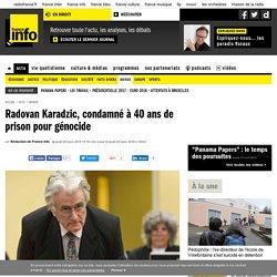 Radovan Karadzic, condamné à 40 ans de prison pour génocide