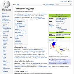Karakalpak language