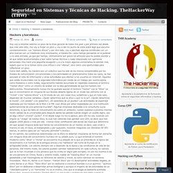 Seguridad en Sistemas y Técnicas de Hacking. TheHackerWay (THW)