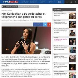 Kim Kardashian a pu se détacher et téléphoner à son garde du corps