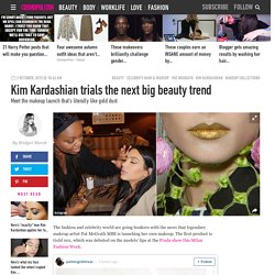 Kim Kardashian wears Pat McGrath's Gold 101 makeup