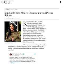 Kim Kardashian West to Release Documentary on Prison Reform