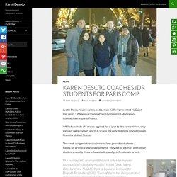 Karen Desoto Coaching Students for Paris Competitions