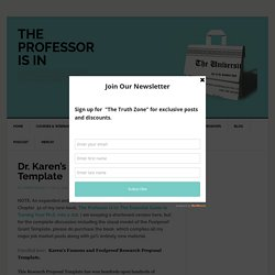 Dr. Karen's Foolproof Grant Template