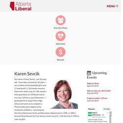 Karen Sevcik - Alberta Liberal Party