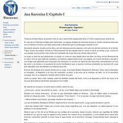 Ana Karenina I: Capítulo I