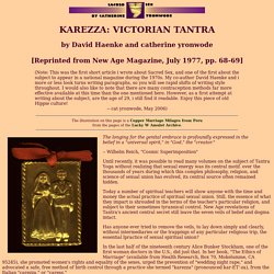 Karezza: Victorian Tantra