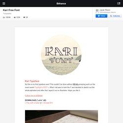 Kari Free Font on Behance