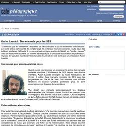 Karim Laarabi : Des manuels pour les SES