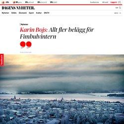 Karin Bojs: Allt fler belägg för Fimbulvintern