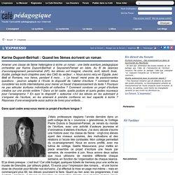 Karine Dupont-Belrhali : Quand les 5èmes écrivent un roman