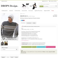 DROPS 85-5 - Pull Drops en Karisma Superwash et Bonnet en Alaska - Free pattern by DROPS Design