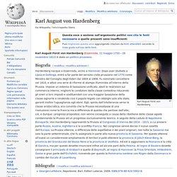 Prussia - Karl August von Hardenberg