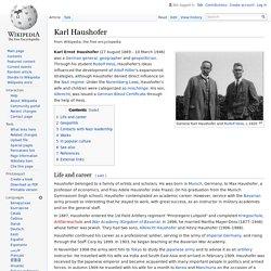 Karl Haushofer - Thule soc., Vrill soc, Hitlers master; see Gurgiev & Sufism & Dali Lama